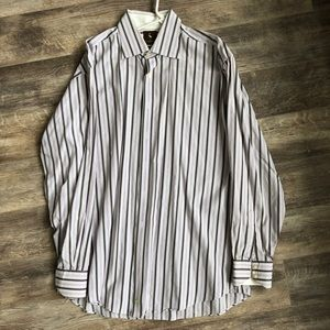 Tailor Byrd Striped Dress Shirt